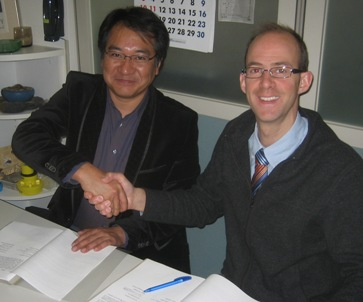 Paul Rogger, JRTL & Wakai-san, CADEX signing Woodpecker Agreement