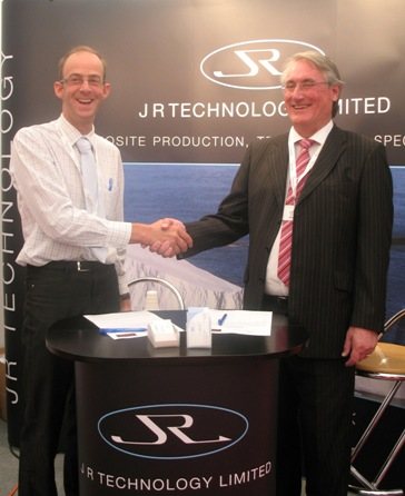JRTL sign agreement with Victory Lighting at Helitech, September 2009