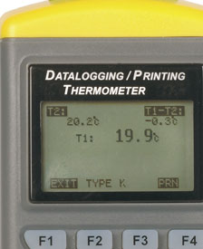Dual Channel Printer / Data-Logging Thermometer Type JRTHD-M2-PRINT/PC